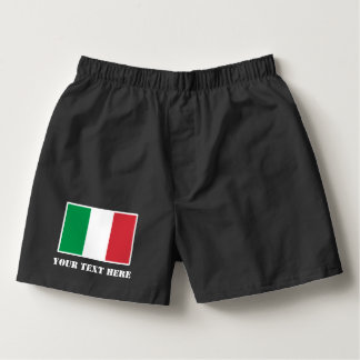 Italian flag boxer shorts underwear for proud men boxers