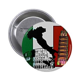 Italian Flag 2 Inch Round Button