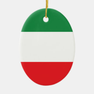 Italian Flag Ceramic Ornament