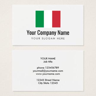 Italian flag company logo business card template
