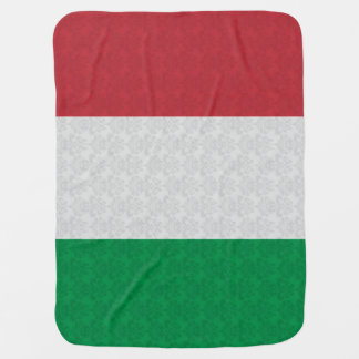 Italian Flag Damask Pattern Baby Blanket