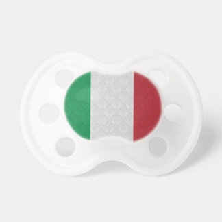 Italian Flag Damask Pattern Baby Pacifier