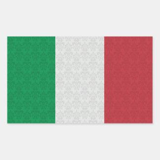 Italian Flag Damask Pattern Sticker
