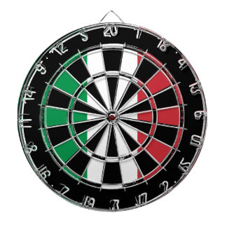 Italian flag dartboard design | Distressed look