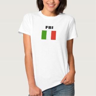 ITALIAN FLAG, FBI T SHIRT