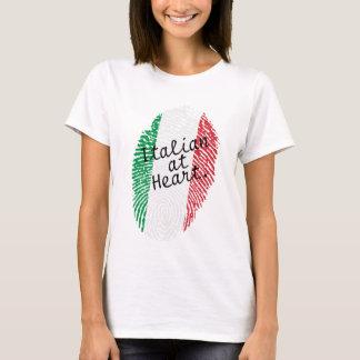 Italian flag fingerprint - shirt