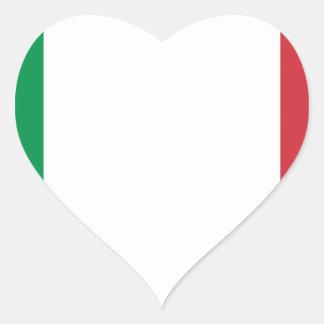Italian Flag - Flag of Italy - Italia Heart Sticker