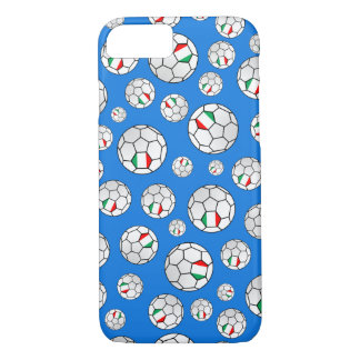 Italian Flag Footballs Soccer Balls Random Pattern iPhone 8/7 Case