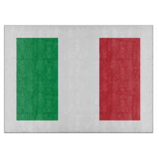 Italian flag glass cutting board | Tricolore