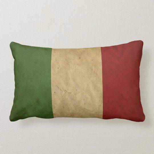 Italian Flag Grunge Colours Lumbar Pillow
