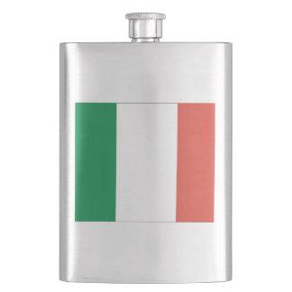 italian flag hip flask