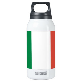 italian flag insulated water bottle