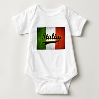 Italian Flag Italia Black Glass (Baby Creeper) Baby Bodysuit