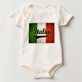 Italian Flag Italia Black Glass White (Baby) Baby Bodysuit