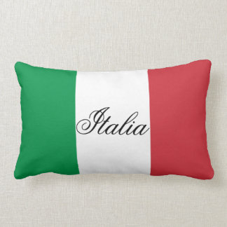 Italian Flag Lumbar Pillow