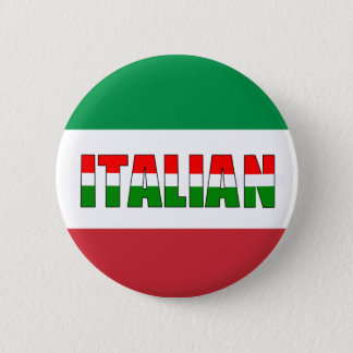 Italian Flag of Italy 2 Inch Round Button