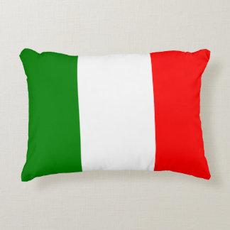 Italian Flag of Italy Bandiera d'Italia Tricolore Accent Pillow