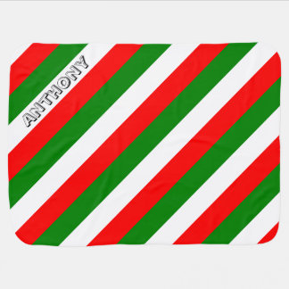 Italian Flag of Italy bandiera d'Italia Tricolore Baby Blanket