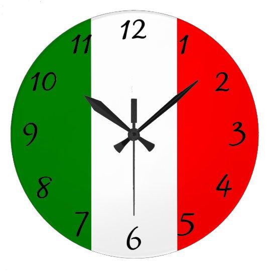 Italian Flag of Italy Bandiera d'Italia Tricolore Wall Clocks