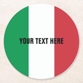 Italian flag of Italy custom paper drink coasters