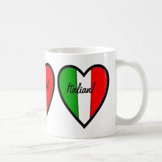 Italian-Flag of Italy-Heart Coffee Mug