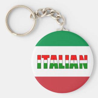 Italian-Flag of Italy Keychain