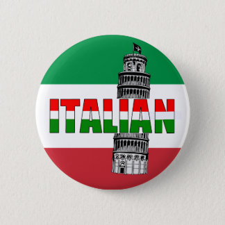 Italian Flag of Italy Pisa 2 Inch Round Button