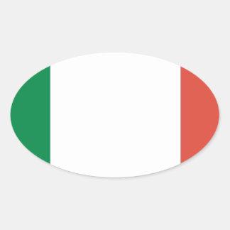 italian flag oval sticker