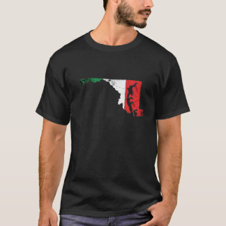 Italian Flag over Maryland T-Shirt