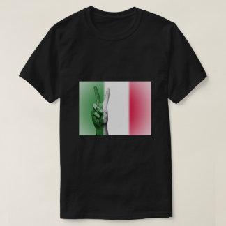 Italian Flag Peace Sign - Patriotic T-Shirt