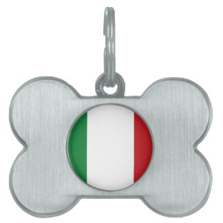 Italian flag pet ID tag