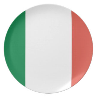 italian flag plate