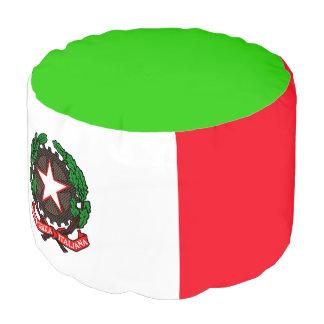 Italian flag pouf