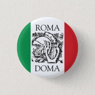 italian flag  ROMA, DOMA 1 Inch Round Button