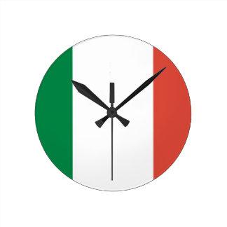 italian flag round clock