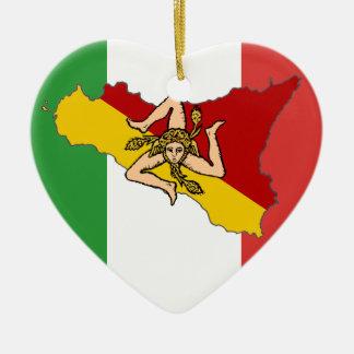 Italian Flag Sicily Ornament