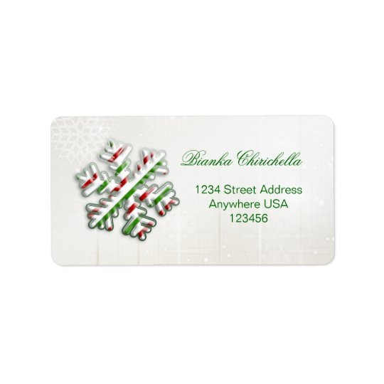 Italian flag Snowflake Avery address label