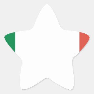 italian flag star sticker