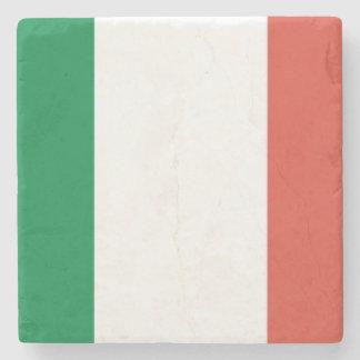 italian flag stone beverage coaster