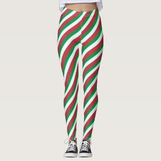 Italian flag stripe pattern leggings
