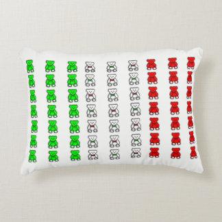 Italian flag teddy bears decorative pillow