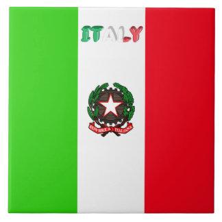 Italian flag tile