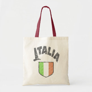 Italian Flag Vintage Canvas Tote Bag