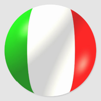Italian Flag With Bubble Sticker