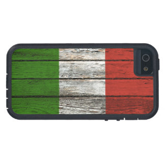 Italian Flag with Rough Wood Grain Effect iPhone 5 Case