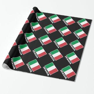 Italian flag wrapping paper   Tricolore design