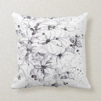 Italian flowers throw pillow