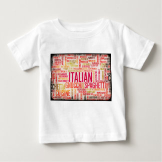 Italian Food and Cuisine Menu Background Baby T-Shirt