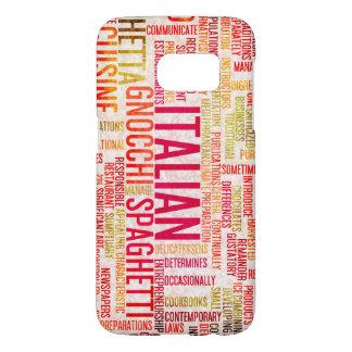 Italian Food and Cuisine Menu Background Samsung Galaxy S7 Case