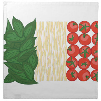 Italian Food Cloth Napkin